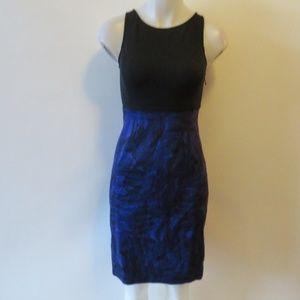 THEORY BLUE BLACK SLEEVELESS DRESS SZ 2*